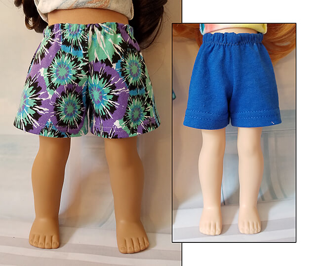 Look who's making Pearls by Lee & Pearl Pattern 101: Gym Shorts for 18 inch American Girl dolls, 16 inch A Girl for All Time dolls and 14 1/2 inch Wellie Wishers and similar dolls -- Jozel W. Pearls are a new line of time- and budget-friendly patterns for doll wardrobe essentials — patterns that are also designed to teach key sewing skills. Got an hour to spare? Make yourself a perfect Pearl.