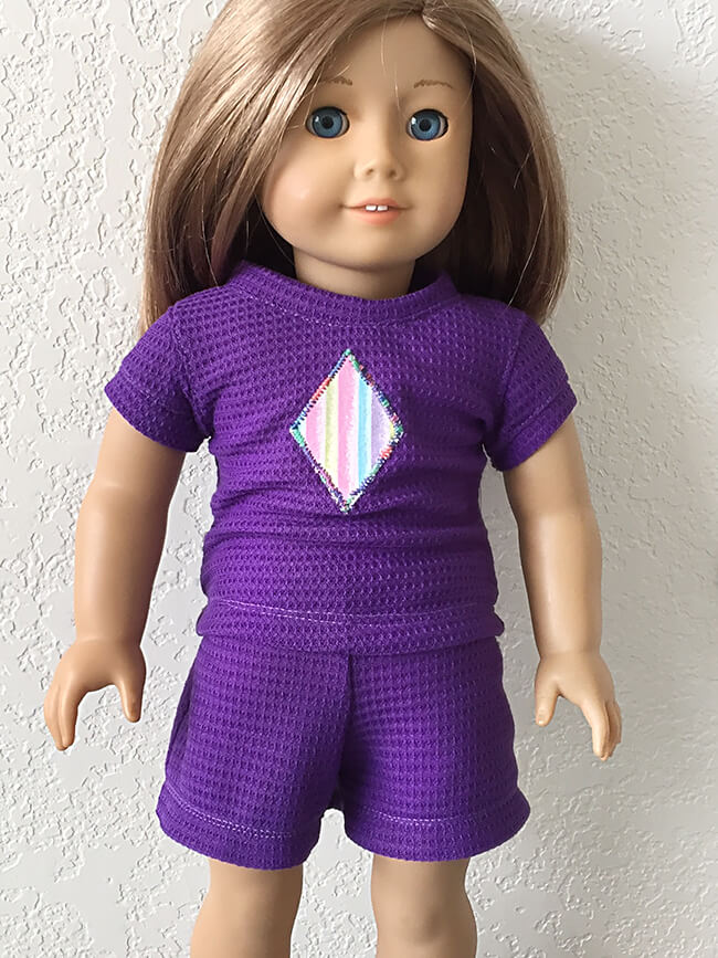 Look who's making Pearls by Lee & Pearl Pattern 101: Gym Shorts for 18 inch American Girl dolls, 16 inch A Girl for All Time dolls and 14 1/2 inch Wellie Wishers and similar dolls -- Karen W. Pearls are a new line of time- and budget-friendly patterns for doll wardrobe essentials — patterns that are also designed to teach key sewing skills. Got an hour to spare? Make yourself a perfect Pearl.