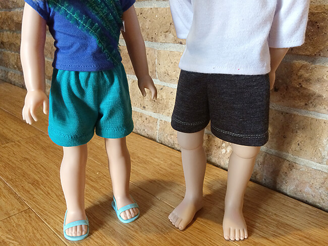 Look who's making Pearls by Lee & Pearl Pattern 101: Gym Shorts for 18 inch American Girl dolls, 16 inch A Girl for All Time dolls and 14 1/2 inch Wellie Wishers and similar dolls -- Lesley from Nebraska! Pearls are a new line of time- and budget-friendly patterns for doll wardrobe essentials — patterns that are also designed to teach key sewing skills. Got an hour to spare? Make yourself a perfect Pearl.