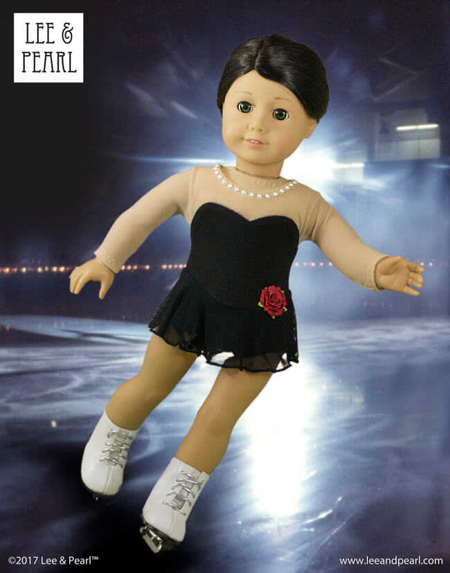 Lee & Pearl LOVE figure skating at the Winter Olympics. Our Pattern 1055: Skating Dresses for 18 Inch Dolls, like our American Girl doll, includes two styles — the elegant Long Program and the fun, athletic Short Program. Find this pattern in the Lee & Pearl Etsy store.