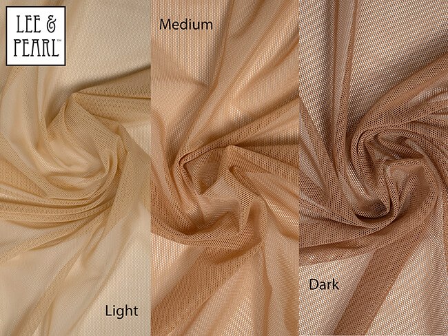 COMING SOON - Light, Medium and Dark skin tone stretch mesh, perfectly matched to the light, medium and dark American Girl doll vinyl colors.