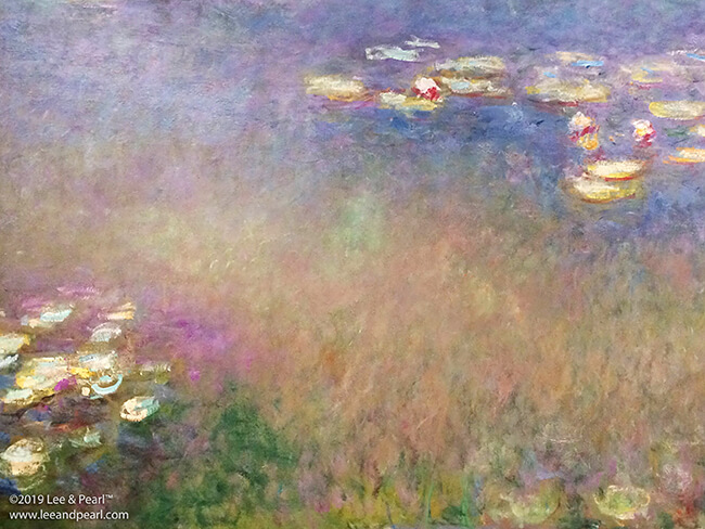 Lee & Pearl visit Monet: The Late Years at the Kimbell Art Museum in Fort Worth, Texas.